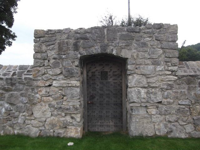 Impressive gate to the walled garden at Dolbelydr