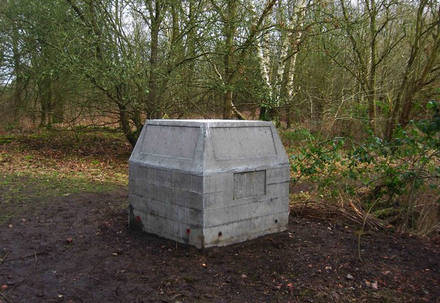 Burlish Camp Project - commemorative block awaiting panels, near Stourport-on-Severn