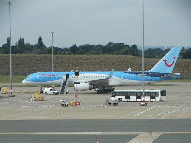 Plane on the tarmac at Birmingham Airport