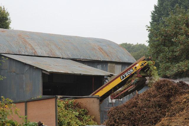Hop processing at Ankerdine Farm