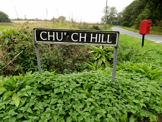 Church Hill sign