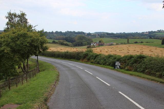 B4204 towards Martley
