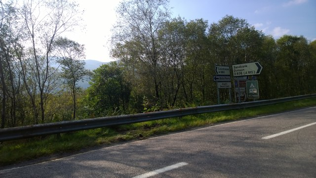 Junction of the B836 and the A886