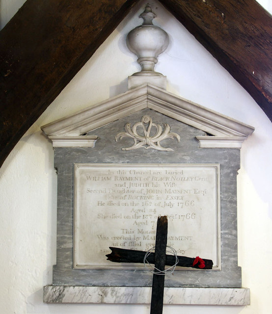 St Peter & St Paul, Black Notley - Wall monument