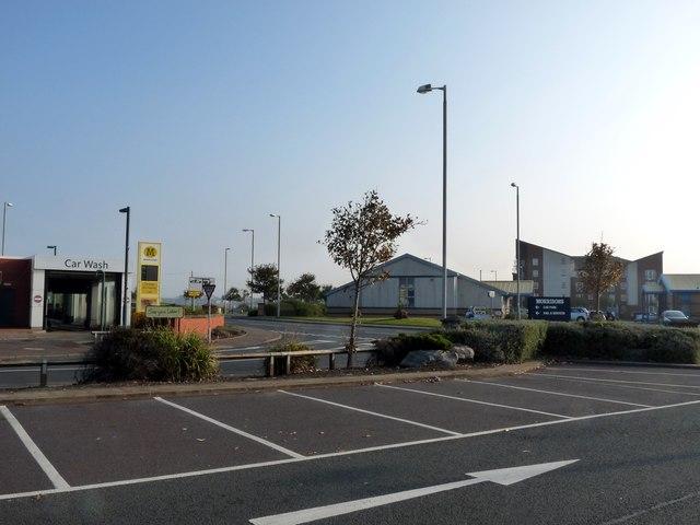 The scene across Jubilee Road from Morrisons supermarket