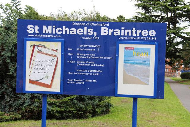 St Michael, Braintree - Notice board