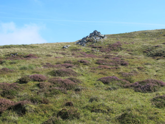 Moorland and rock outcrop southeast of Howgill