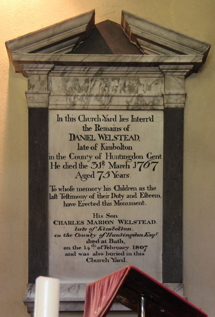 St John the Evangelist, Little Leighs - Wall monument