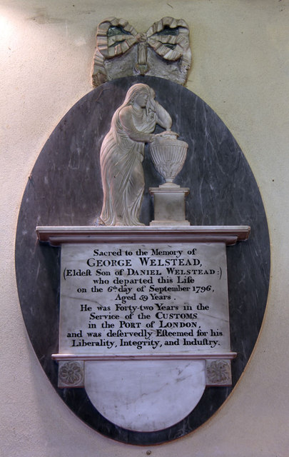 St John the Evangelist, Little Leighs - Wall monument