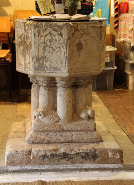St John the Evangelist, Little Leighs - Font