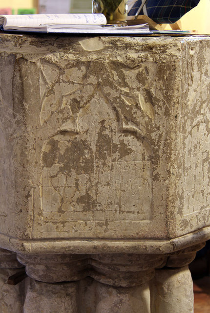 St John the Evangelist, Little Leighs - Font detail
