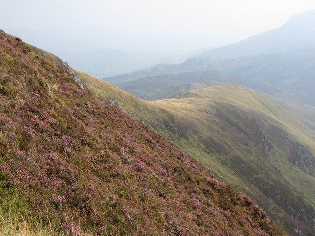 Southern ridge from Trum y Ddysgl