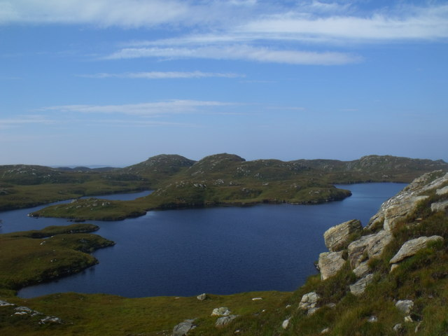 Promontory in Loch a' Chapuill near Lochinver