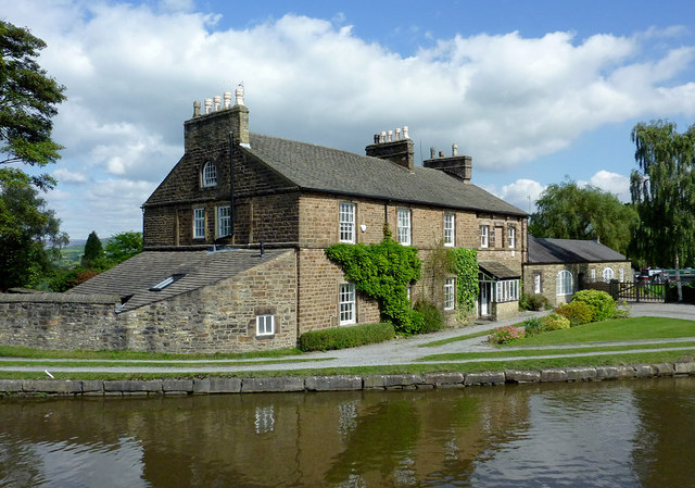 Canalside building at Marple, Stockport