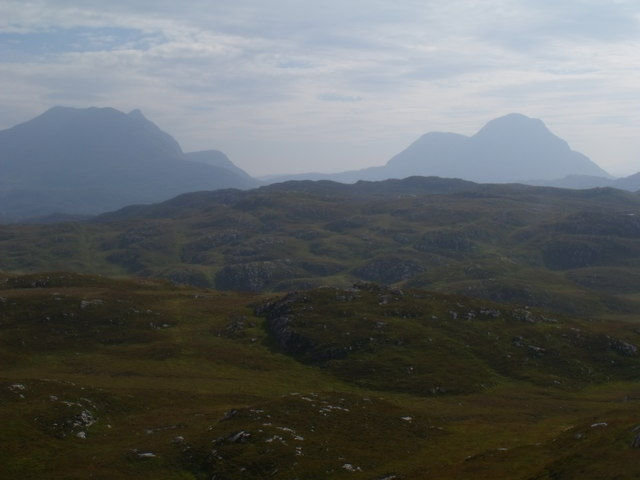 View south over Loch Clais Fearna near Lochinver