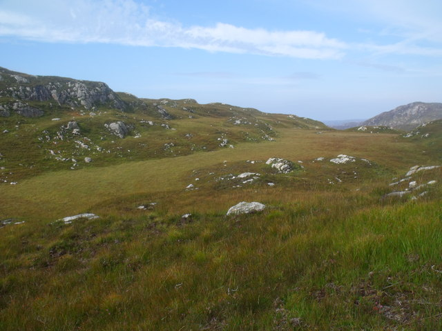 Area of bog above Loch Clais Fearna near Lochinver