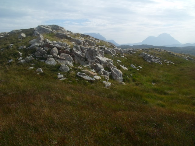 Apparently twin summit on cnoc above Loch a' Chapuill near Lochinver