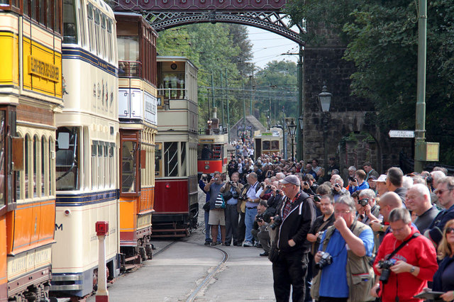 The Saturday cavalcade at Victoria Park with crowds of photographers