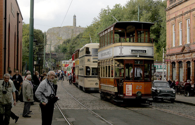 Trams as far as the eye can see