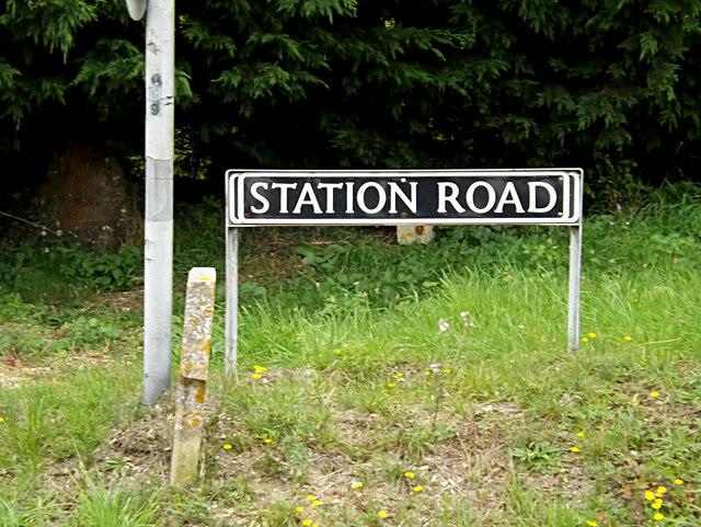 Station Road sign
