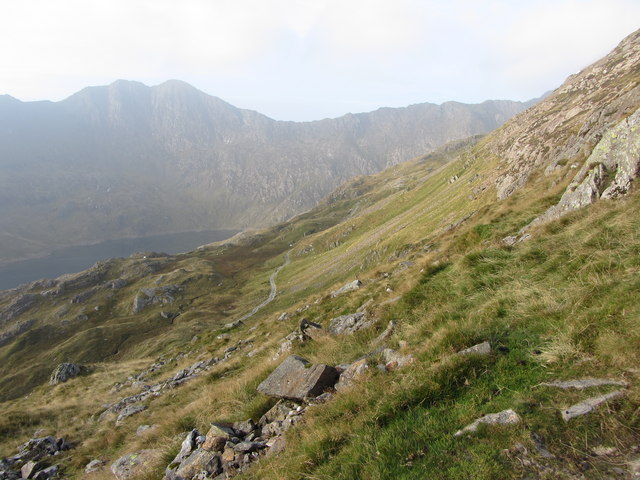 View SW from the Crib Goch path