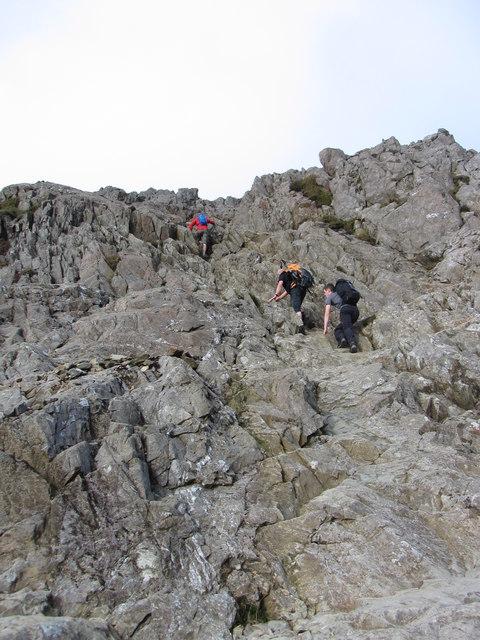 On the climb to Crib Goch