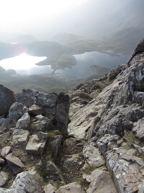 View from Crib Goch over Llyn Llydaw