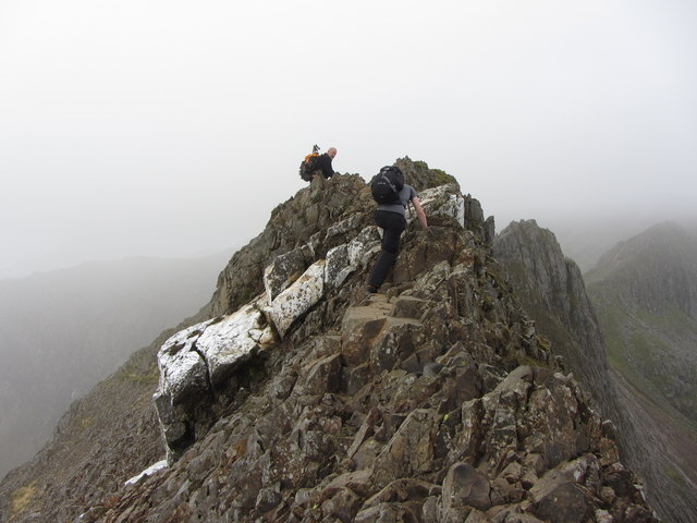 Near Crib Goch's summit