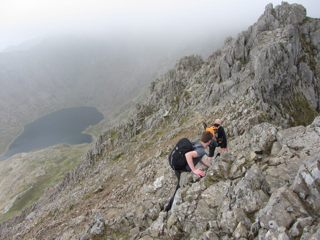 On Crib Goch