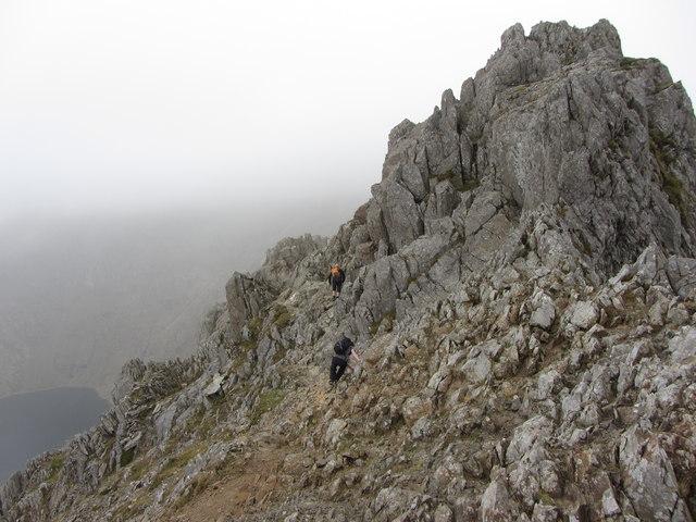 Crib Goch: first pinnacle