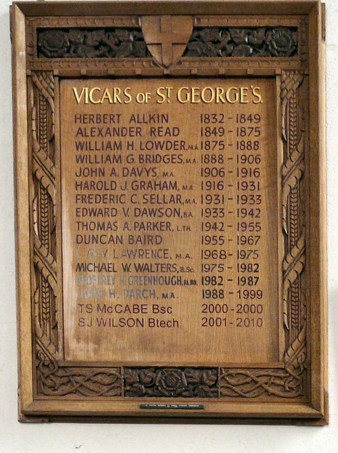 Vicars of St George's