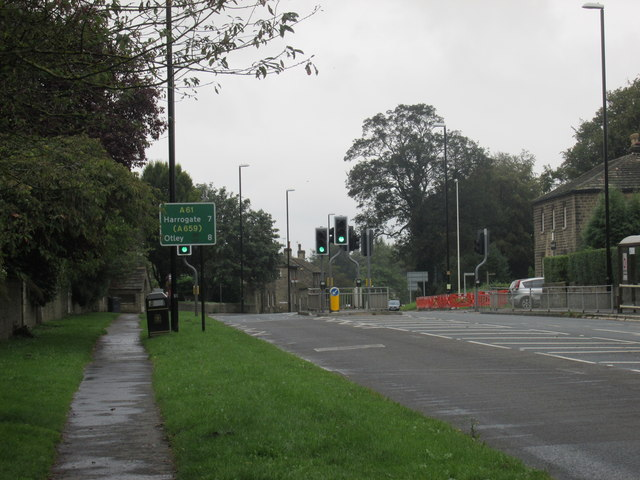 The A61 at Harewood
