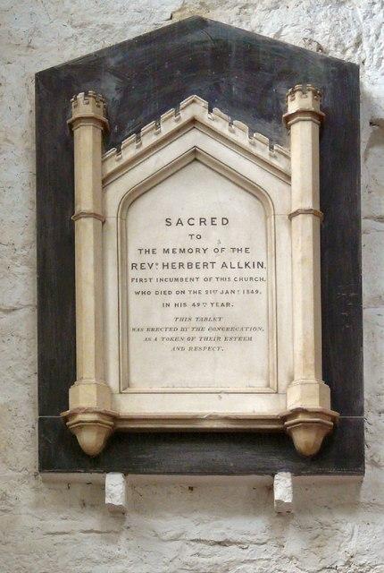 Memorial to Herbert Allkin