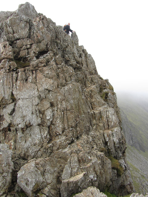 Crib Goch: third pinnacle