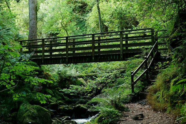 Bridge Across Stanley Ghyll Beck, Cumbria