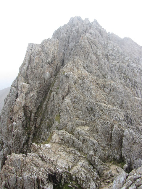 Crib Goch: looking back onto the second pinnacle
