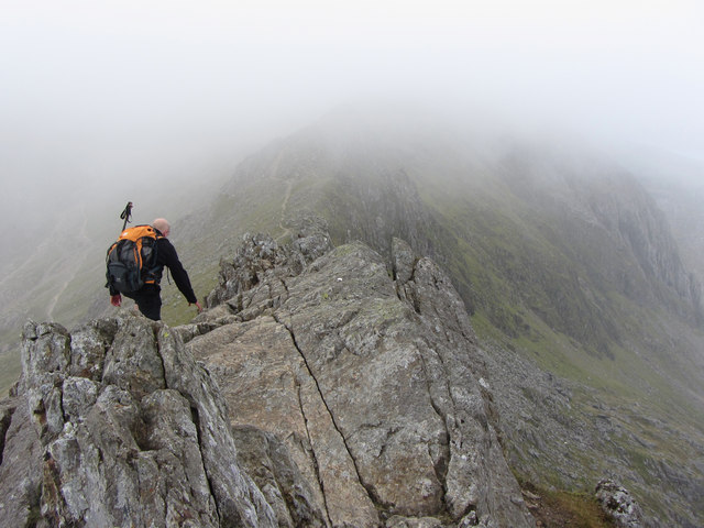 Crib Goch: on top of the third pinnacle
