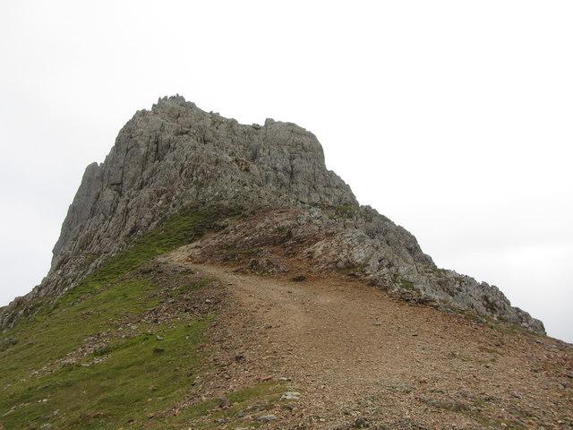 Looking back at the third pinnacle of Crib Goch