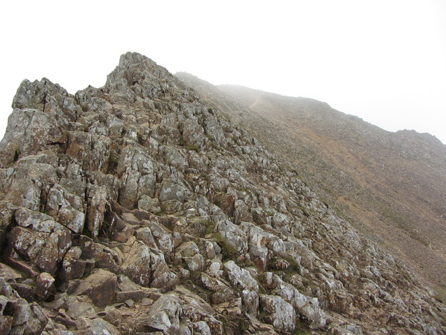 Climbing to Garnedd Ugain