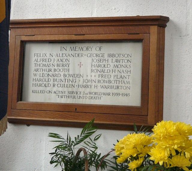 St George's : WW2 Memorial