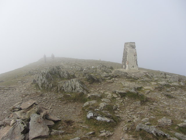 Trig Point on Garnedd Ugain