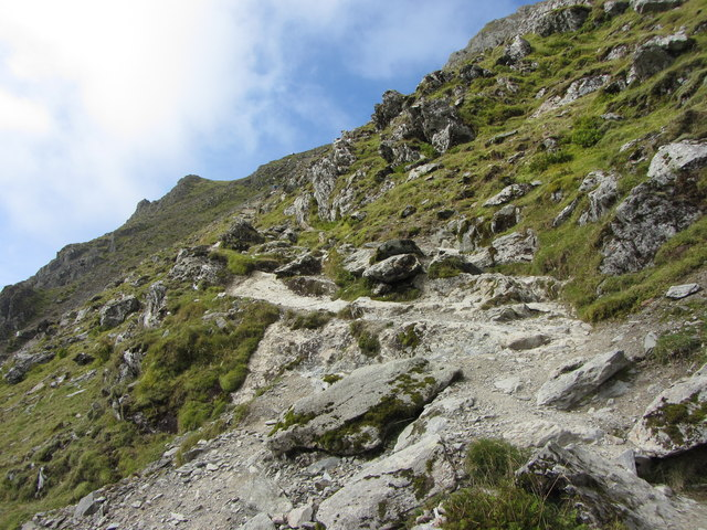 Looking back up the Watkin Path