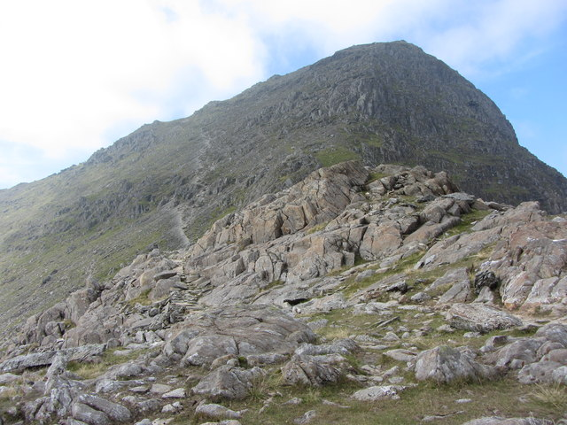 Looking back to Snowdon from the Watkin Path