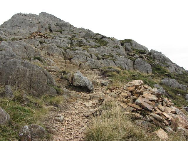 Climbing to the West Peak of Y Lliwedd