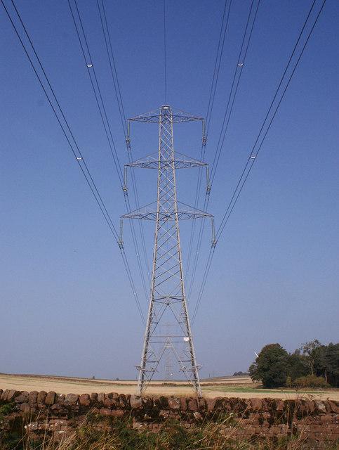 Electricity pylons