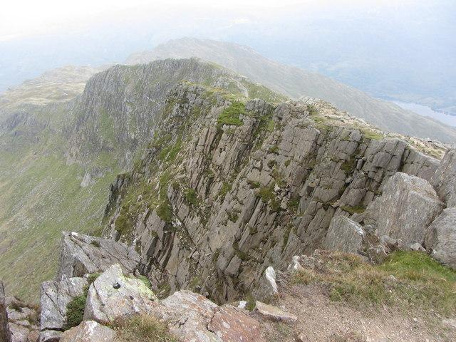 Lliwedd Bach from the East Peak of Y Lliwedd