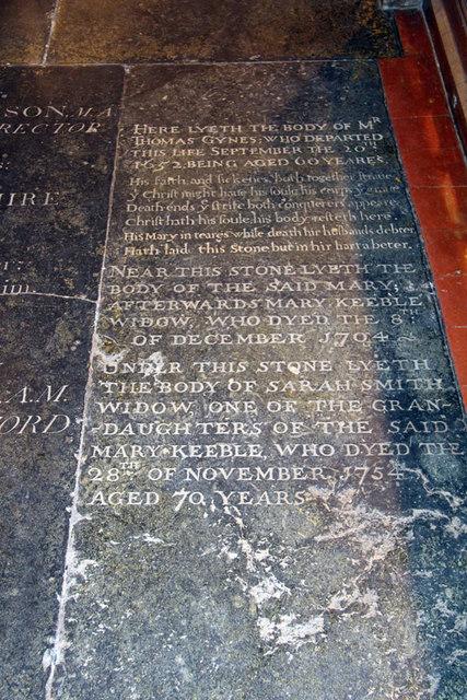 St Mary, Great Leighs - Ledger slab