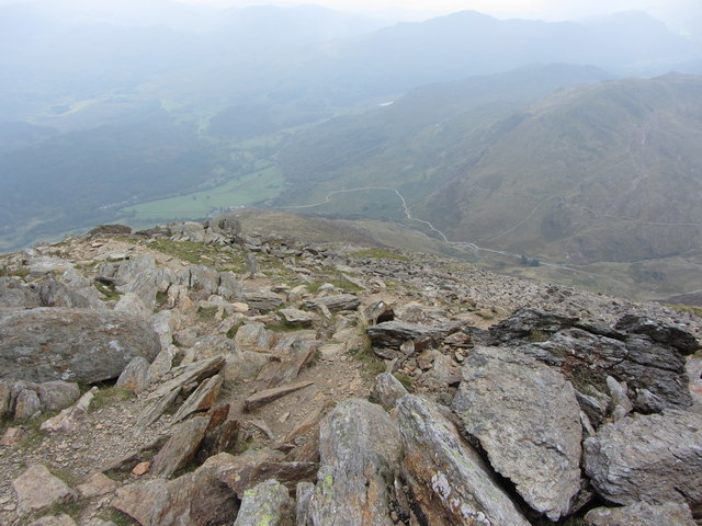 View SW from East Peak of Y Lliwedd