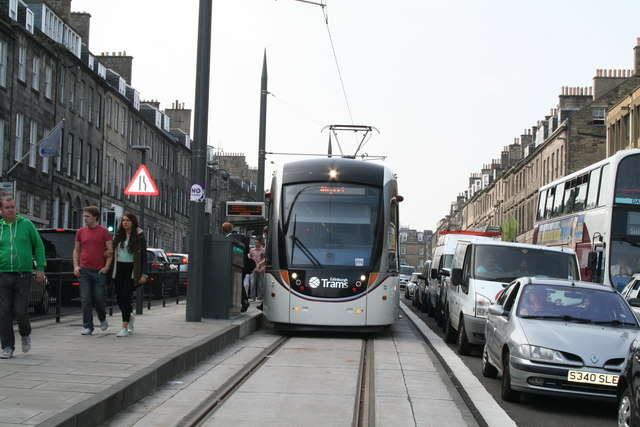 Edinburgh:  Tram at York Place terminus