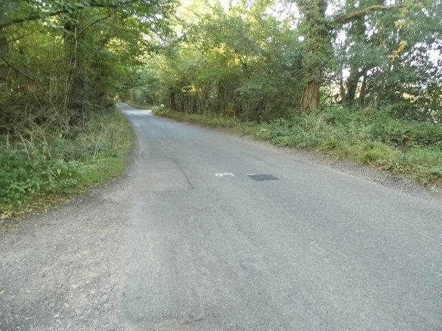 Barhatch Road north of Cranleigh